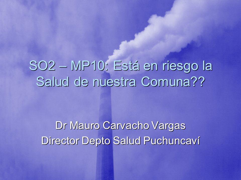 SO2 – MP10: Está en riesgo la Salud de nuestra Comuna