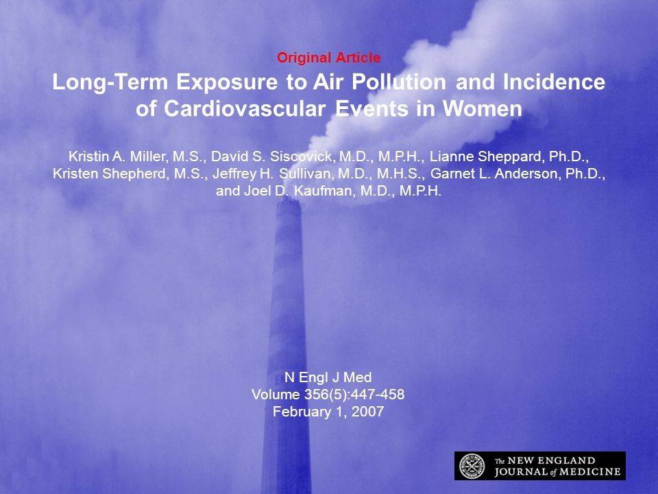 Original Article Long-Term Exposure to Air Pollution and Incidence of Cardiovascular Events in Women