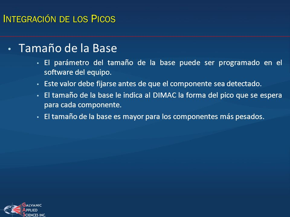 Integración de los Picos