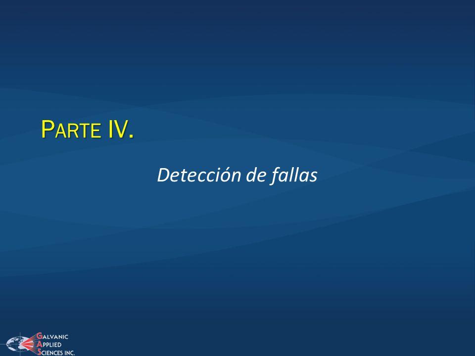 Parte IV. Detección de fallas