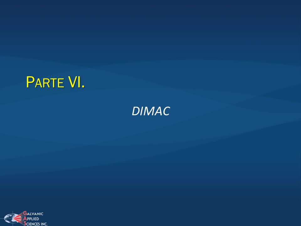 Parte VI. DIMAC