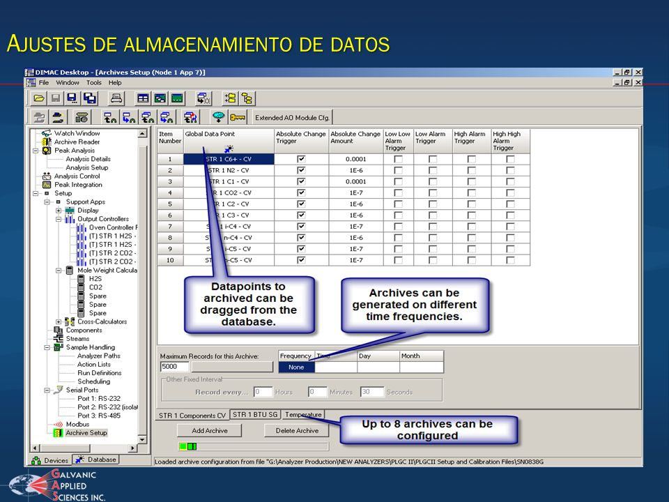 Ajustes de almacenamiento de datos