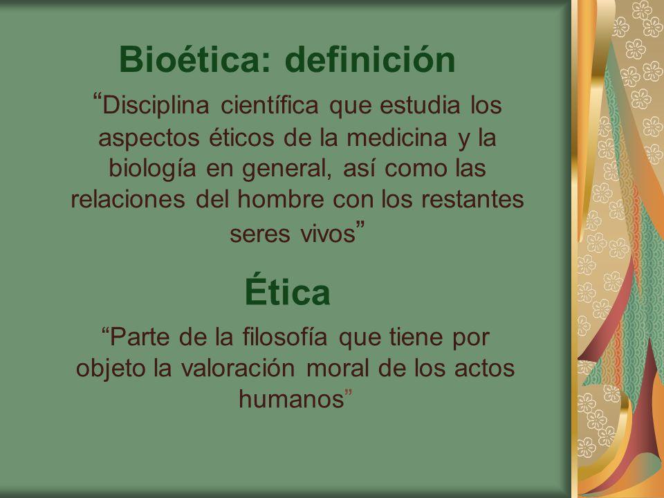 Bioética: definición Ética