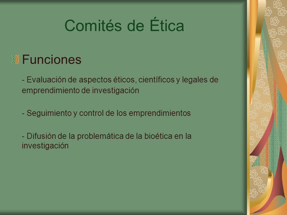 Comités de Ética Funciones