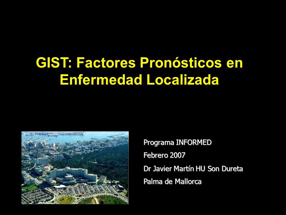 GIST: Factores Pronósticos en Enfermedad Localizada