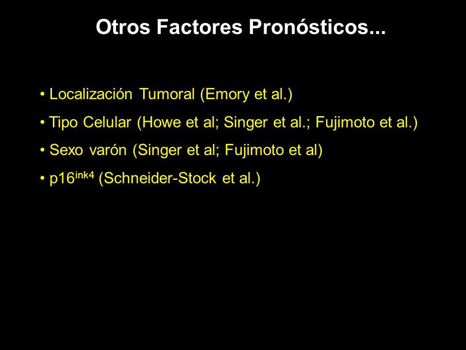 Otros Factores Pronósticos...