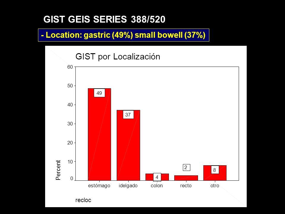 GIST GEIS SERIES 388/520 GIST por Localización