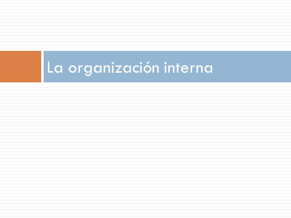 La organización interna