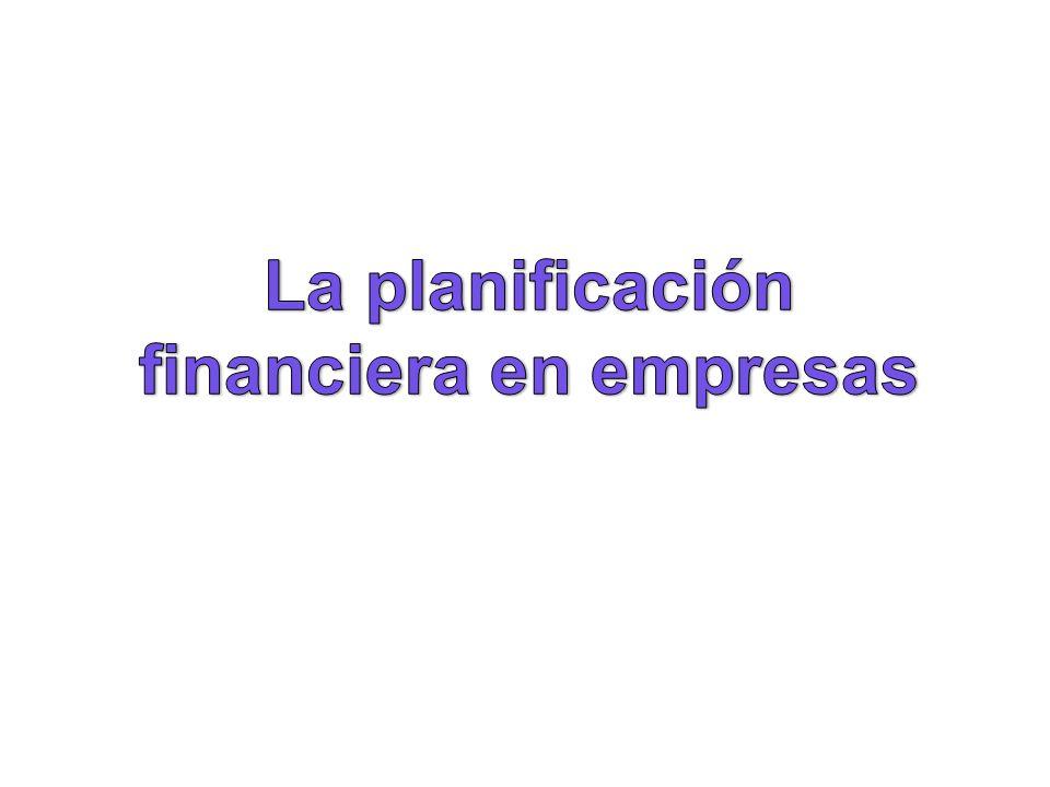 La planificación financiera en empresas