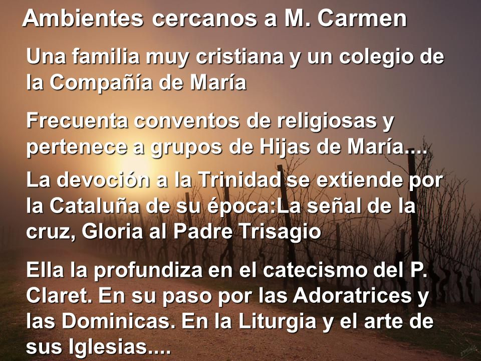 Ambientes cercanos a M. Carmen