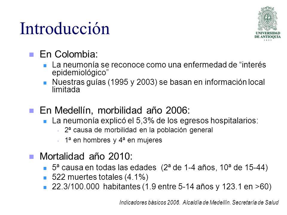Introducción En Colombia: En Medellín, morbilidad año 2006: