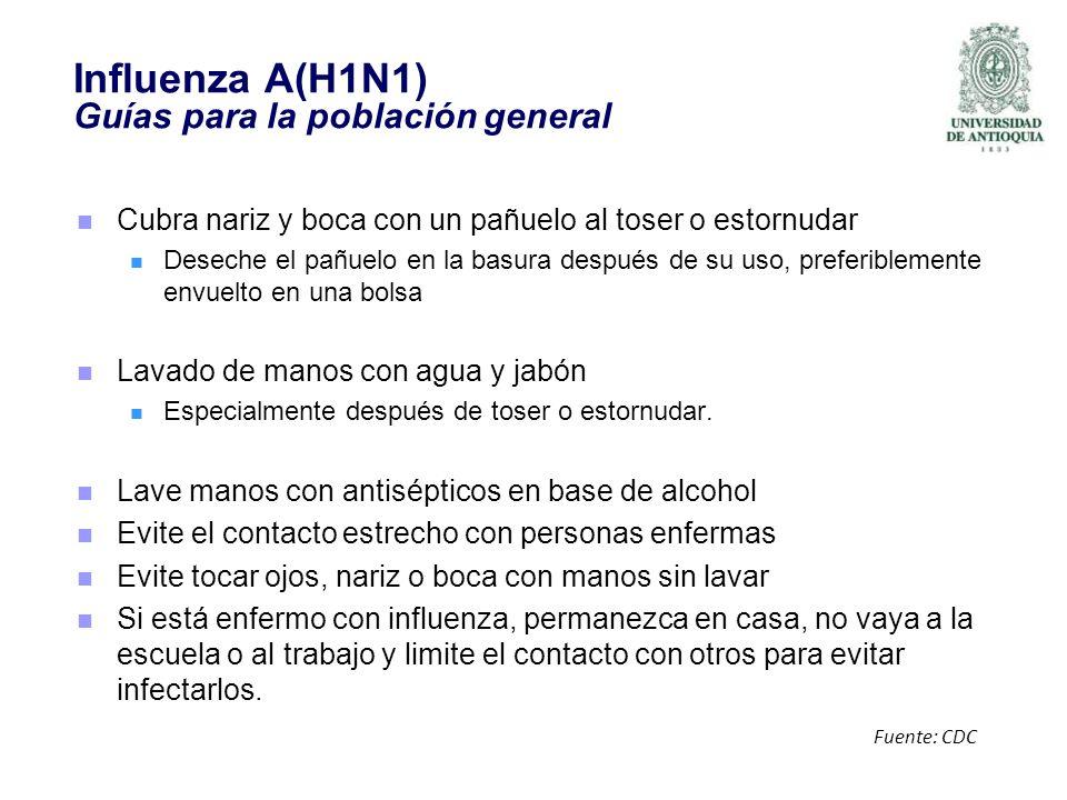 Influenza A(H1N1) Guías para la población general