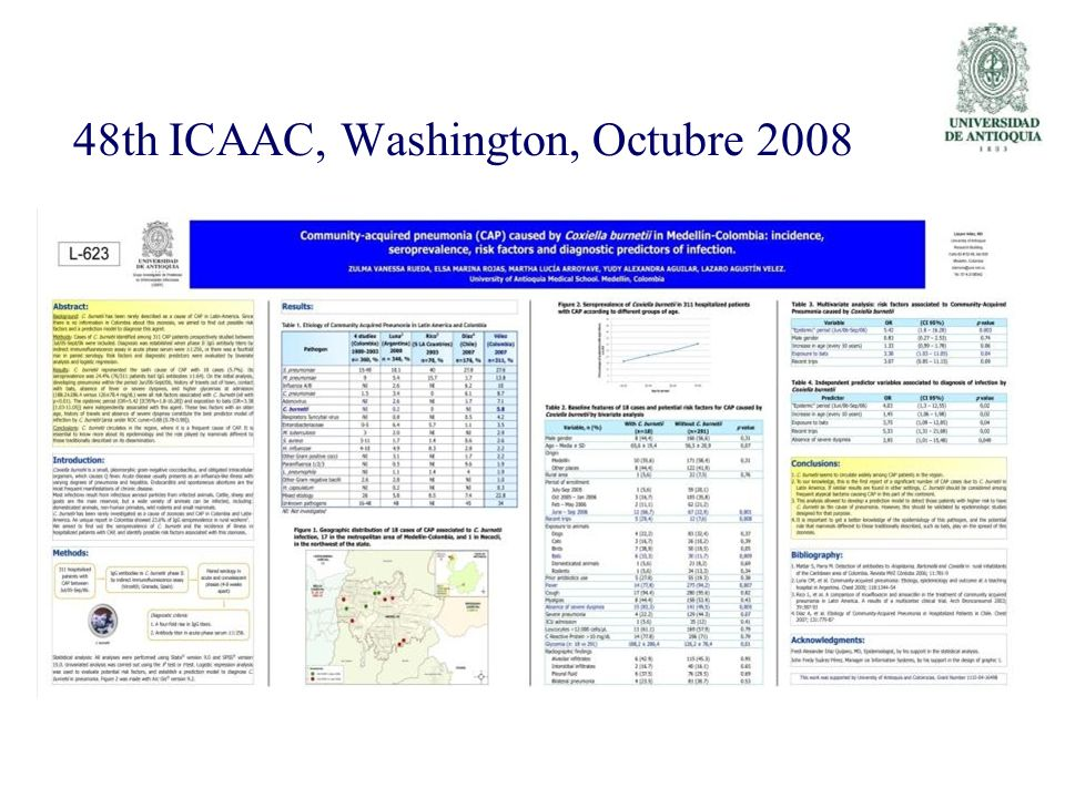 48th ICAAC, Washington, Octubre 2008