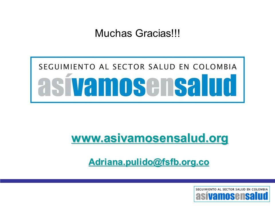Muchas Gracias!!! www.asivamosensalud.org Adriana.pulido@fsfb.org.co