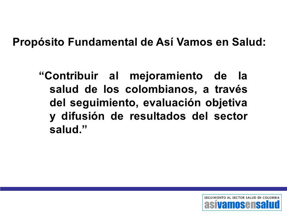 Propósito Fundamental de Así Vamos en Salud: