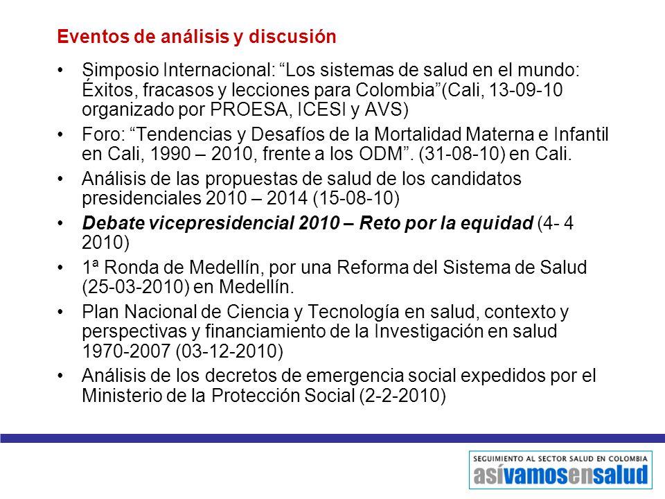 Eventos de análisis y discusión