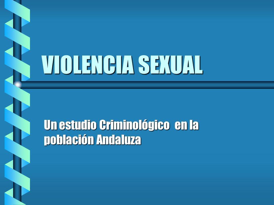 Un estudio Criminológico en la población Andaluza