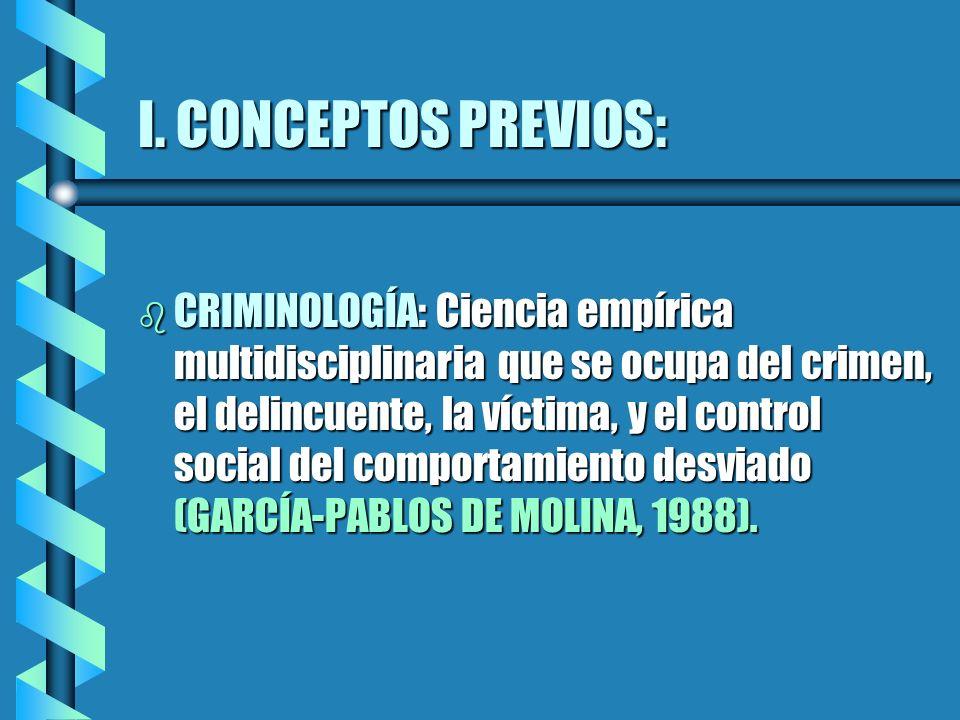 I. CONCEPTOS PREVIOS: