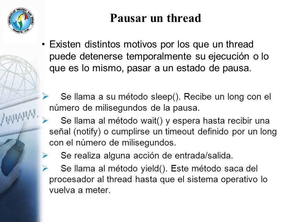 Pausar un thread