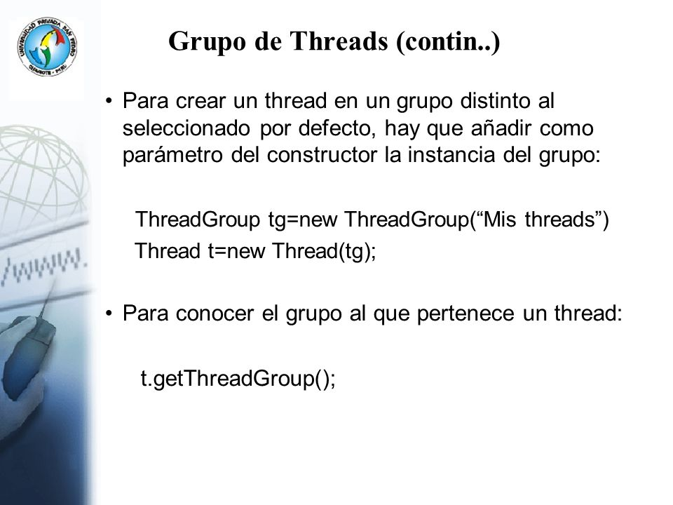 Grupo de Threads (contin..)