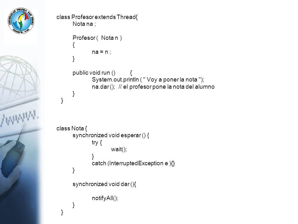 System.out.println ( Voy a poner la nota );