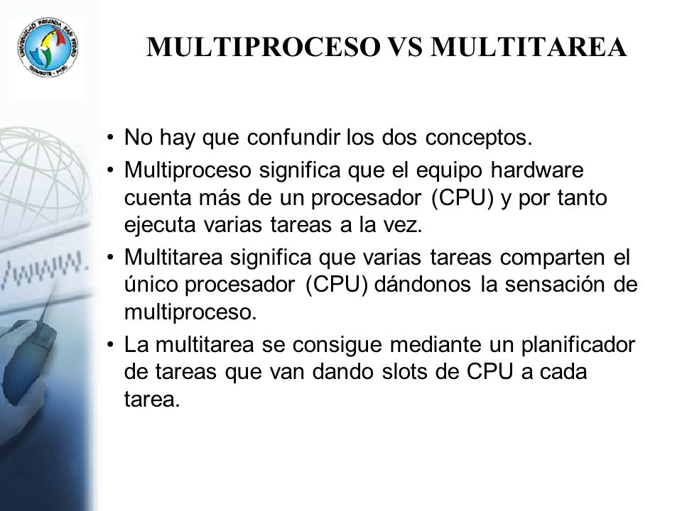 MULTIPROCESO VS MULTITAREA