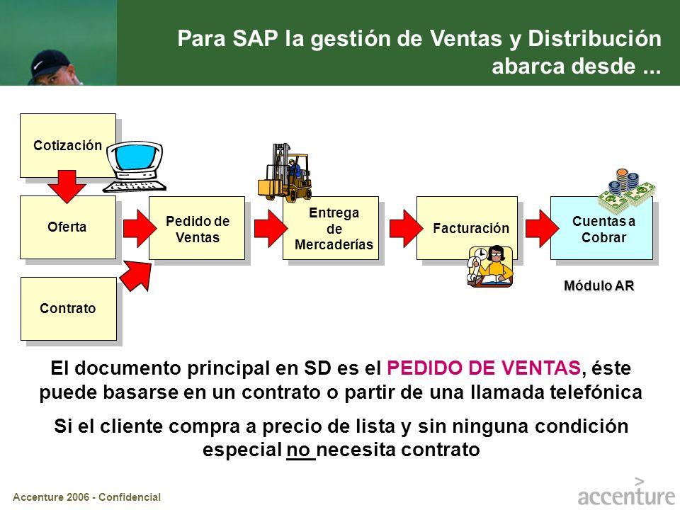 Para SAP la gestión de Ventas y Distribución abarca desde ...
