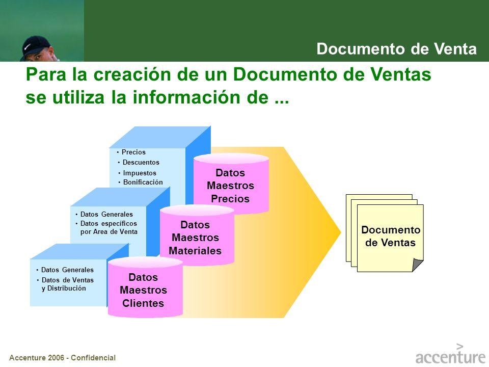 Documento de Venta Para la creación de un Documento de Ventas se utiliza la información de ... Precios.