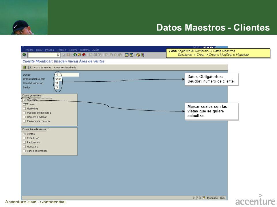 Datos Maestros - Clientes