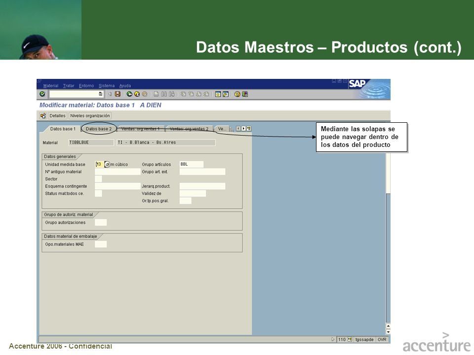 Datos Maestros – Productos (cont.)