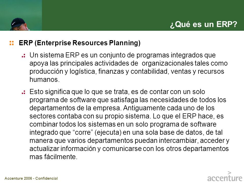 ¿Qué es un ERP ERP (Enterprise Resources Planning)