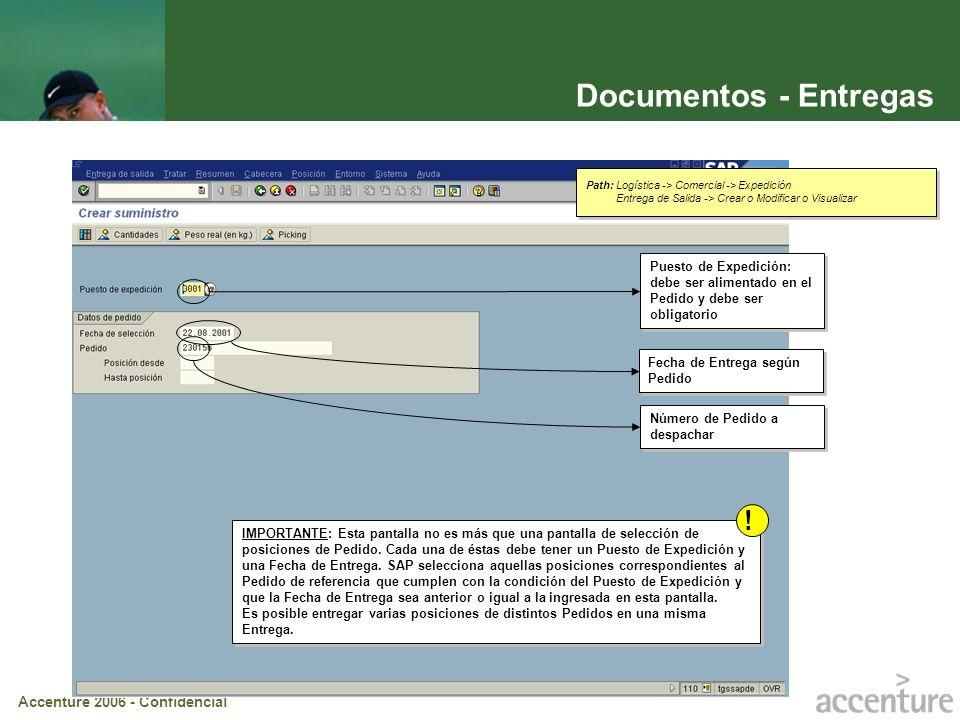 Documentos - EntregasPath: Logística -> Comercial -> Expedición. Entrega de Salida -> Crear o Modificar o Visualizar.