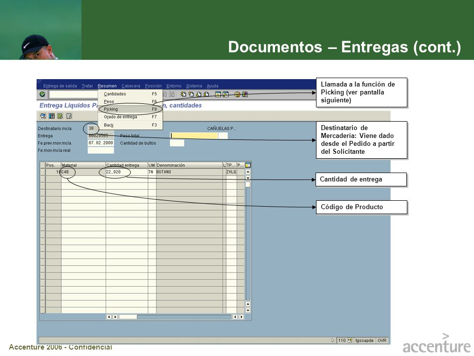 Documentos – Entregas (cont.)
