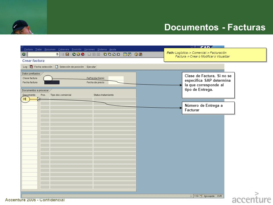 Documentos - Facturas Path: Logística -> Comercial -> Facturación. Factura -> Crear o Modificar o Visualizar.