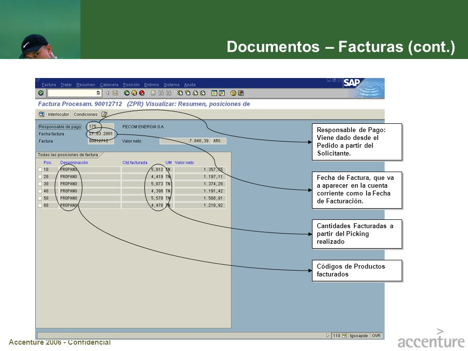 Documentos – Facturas (cont.)
