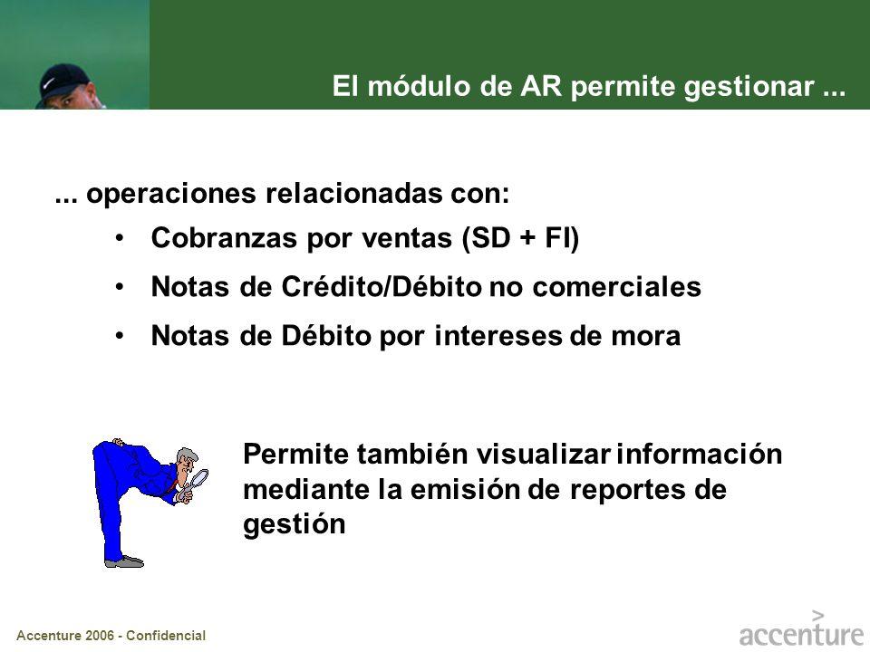 El módulo de AR permite gestionar ...