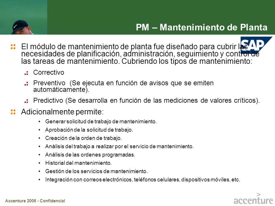 PM – Mantenimiento de Planta