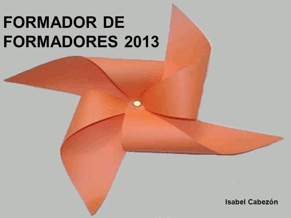 FORMADOR DE FORMADORES 2013