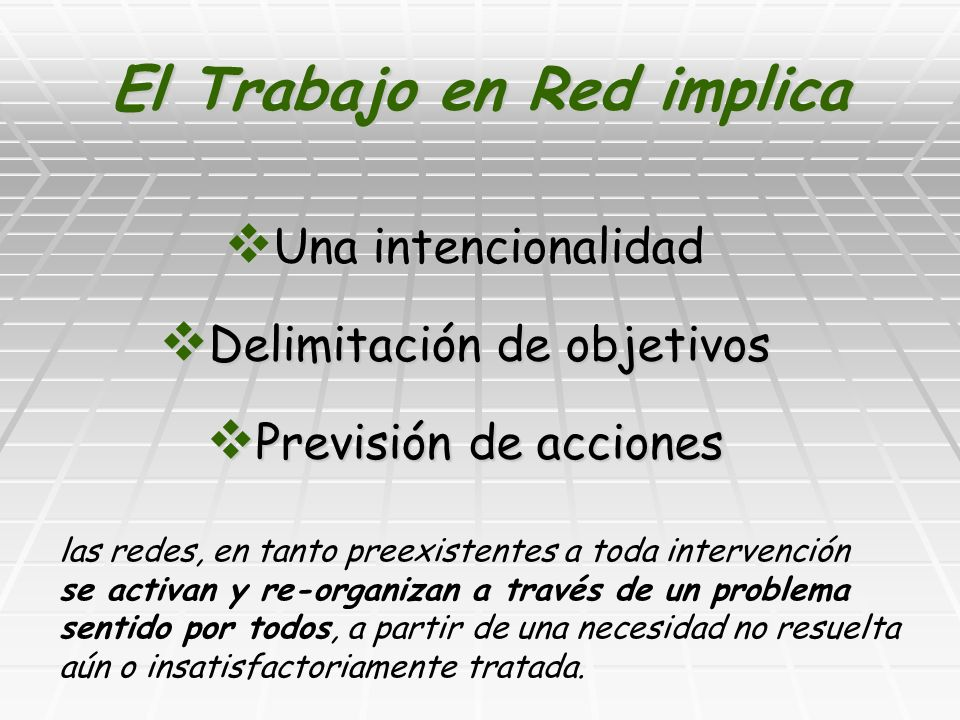 El Trabajo en Red implica