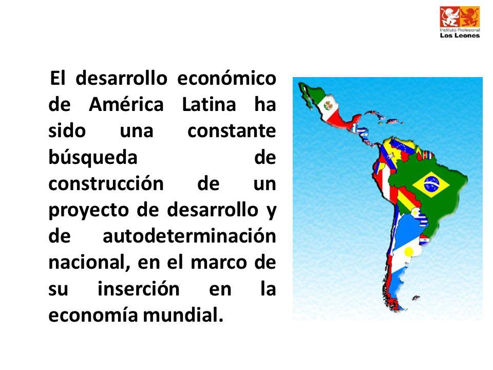 El desarrollo económico de América Latina ha sido una constante búsqueda de construcción de un proyecto de desarrollo y de autodeterminación nacional, en el marco de su inserción en la economía mundial.