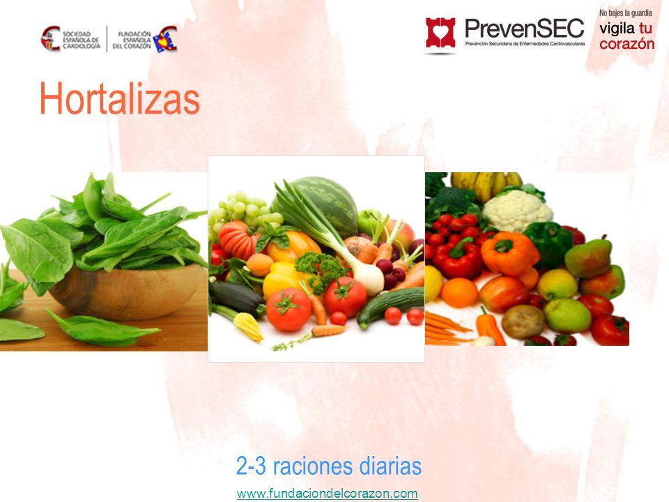 Hortalizas 2-3 raciones diarias