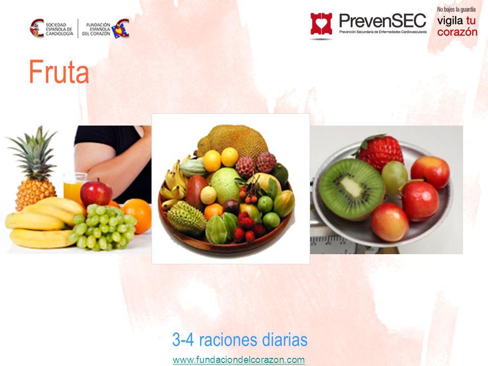Fruta 3-4 raciones diarias