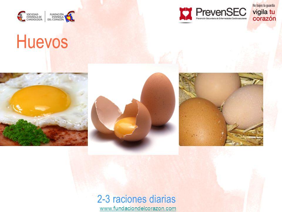 Huevos 2-3 raciones diarias