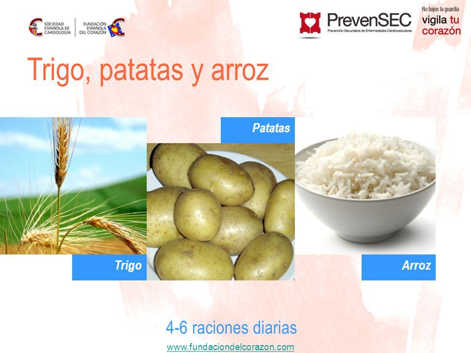 Trigo, patatas y arroz Patatas Trigo Arroz 4-6 raciones diarias