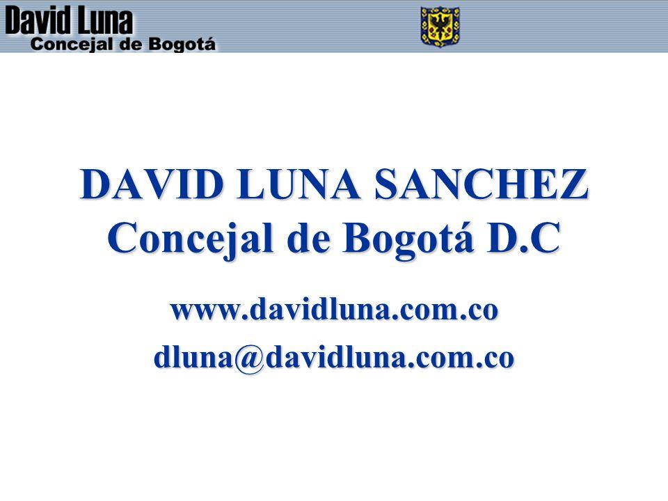 DAVID LUNA SANCHEZ Concejal de Bogotá D.C