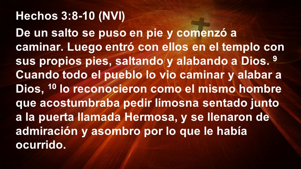 Hechos 3:8-10 (NVI)