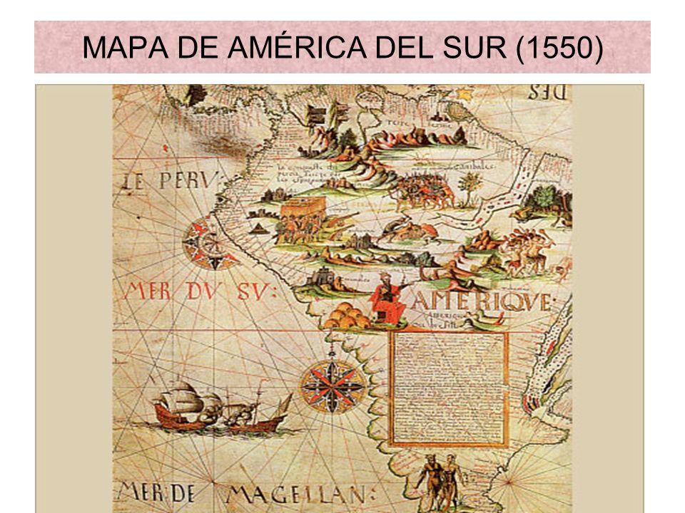 MAPA DE AMÉRICA DEL SUR (1550)
