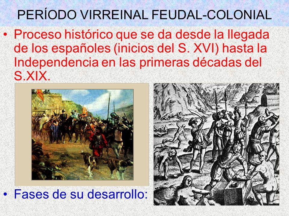 PERÍODO VIRREINAL FEUDAL-COLONIAL
