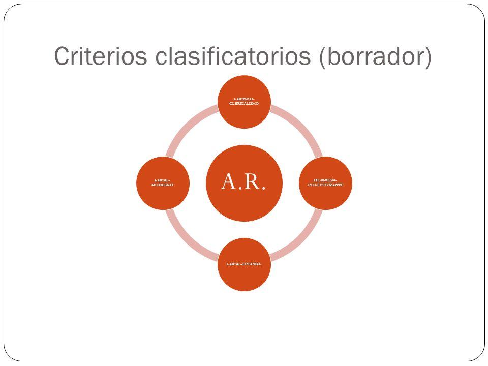 Criterios clasificatorios (borrador)