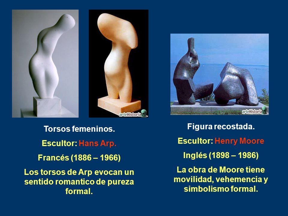La obra de Moore tiene movilidad, vehemencia y simbolismo formal.